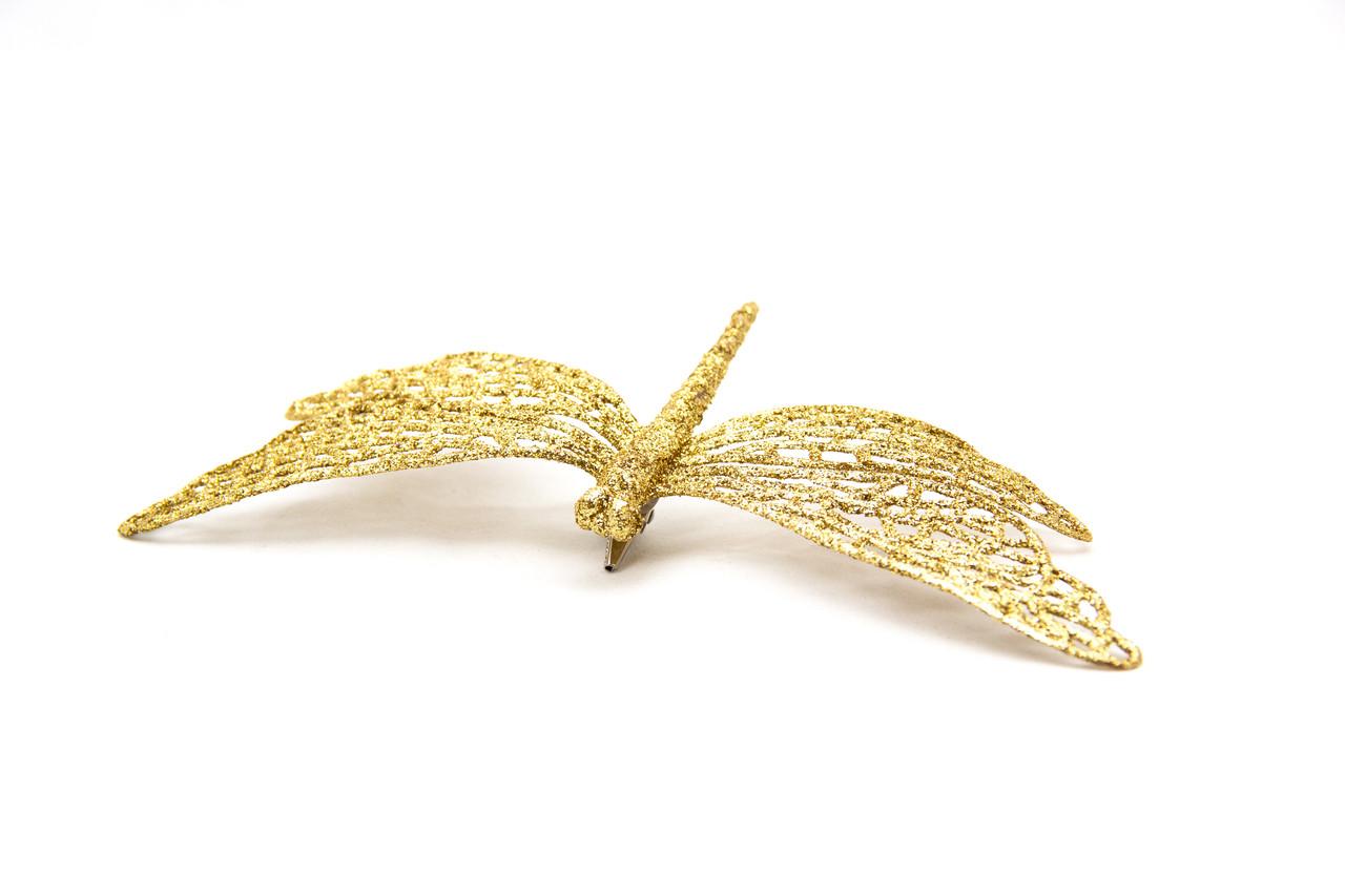 Стрекоза на клипсе, 16.5 см, золото (001064-2)