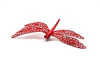 Стрекоза на клипсе, 16.5 см, красный (001064-3)