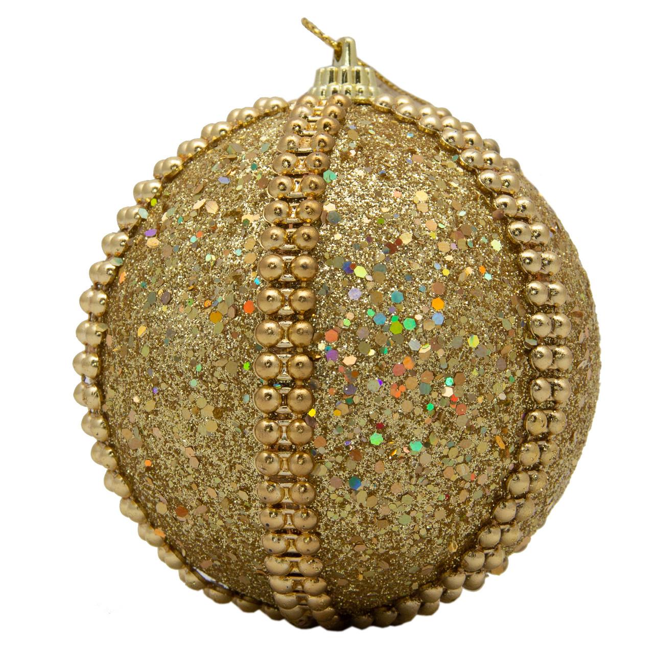 Елочное украшение в форме шара, золото (661503-4)