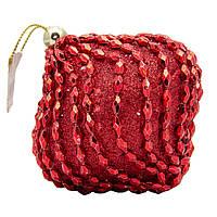 Елочное украшение в форме луковицы, красный (661473-7), фото 1