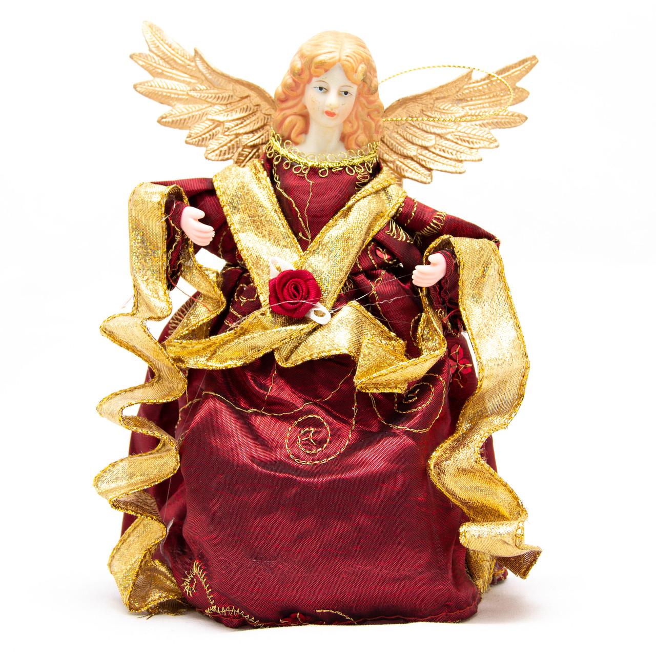 Новогодний сувенир - Феи, 18 см, красные (180387-2)
