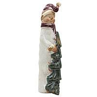 Фигурка сувенирная керамическая Снеговик 22 см (003949)