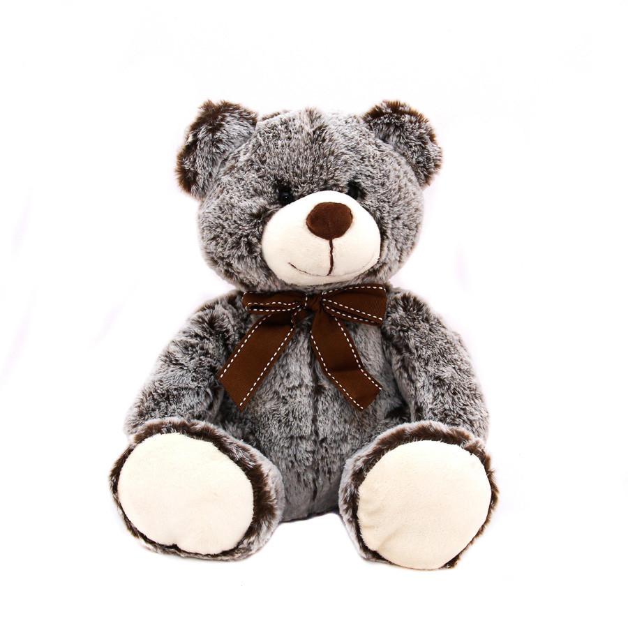 Мягкая игрушка - медведь, 33 см, серый, полиэстер (M1422826)