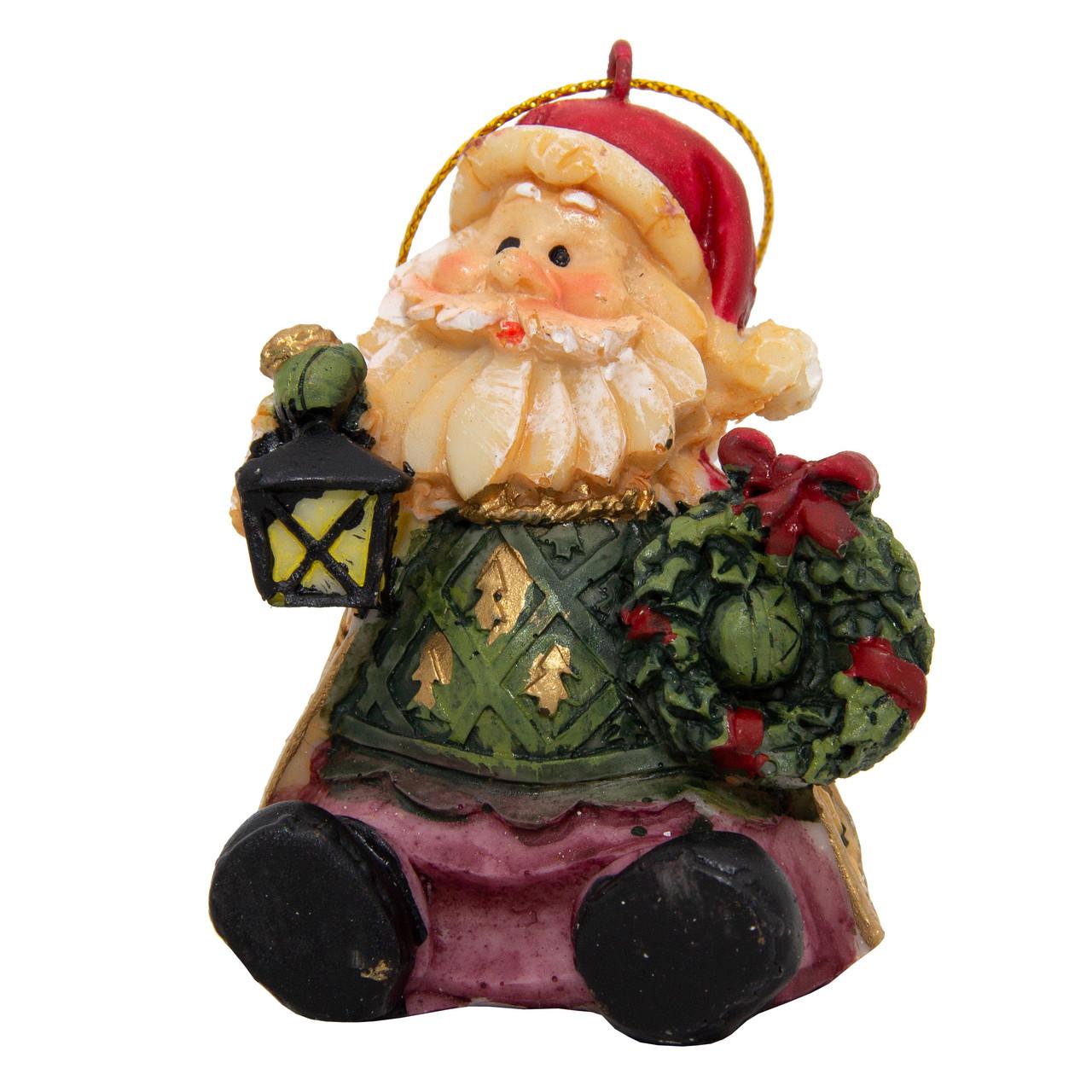 Фигурка сувенирная Дед Мороз с фонариком, 6см (000012-24)