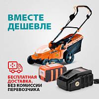 Газонокосилка аккумуляторная (36В, 370мм) Sturm CL4437CL + зарядное устройство и аккумулятор 36 В 3,0 Ач