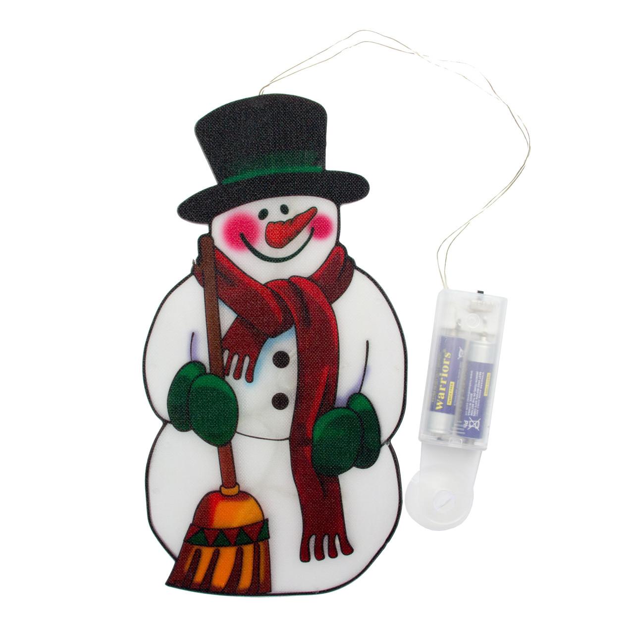 Світодіодна декорація - Сніговик, 25*13,5 см, 10л, пластик, IP20 (640287)