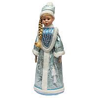 Новогодняя сувенирная фигурка Снегурочка в бирюзовой шубе, 66 см (180448-2)
