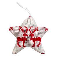 Елочное украшение - звезда, 10см (430062-1)