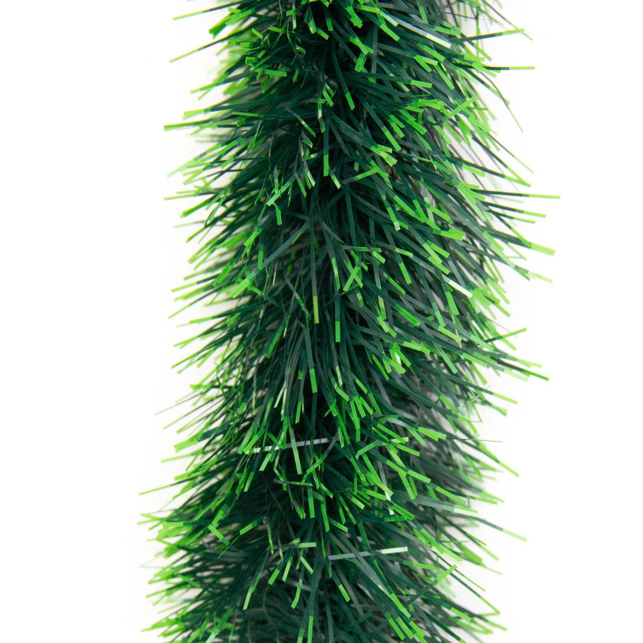 Новорічне прикраса - мішура, 200*7 см, ПВХ, зелено-салатовий (ГК-70/2-5)