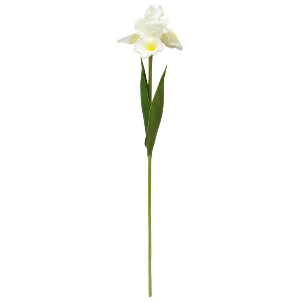 Искусственный цветок Ирис, 56 см, Белый (631451)