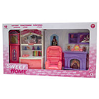 "Мебель для кукол гостиная ""Сладкий дом"" Барби, Брац, розовая, 55х9х31см (25298P)"