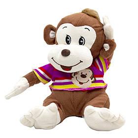 М'яка іграшка Мавпочка в рожевій футболці, 26 см, (727001/1-1)