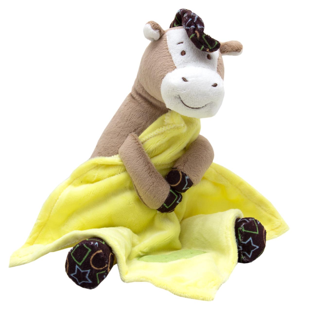 М'яка іграшка Коник з жовтим ковдрою, 19 см, (D1228319-1)