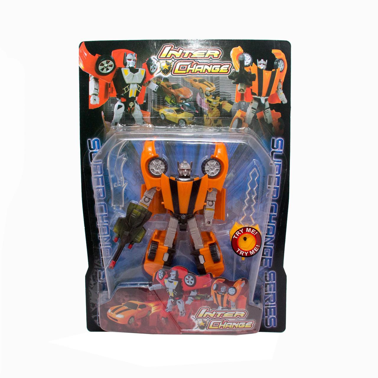 Трансформер-робот со световым мечом, Оранжевый (3832-2)