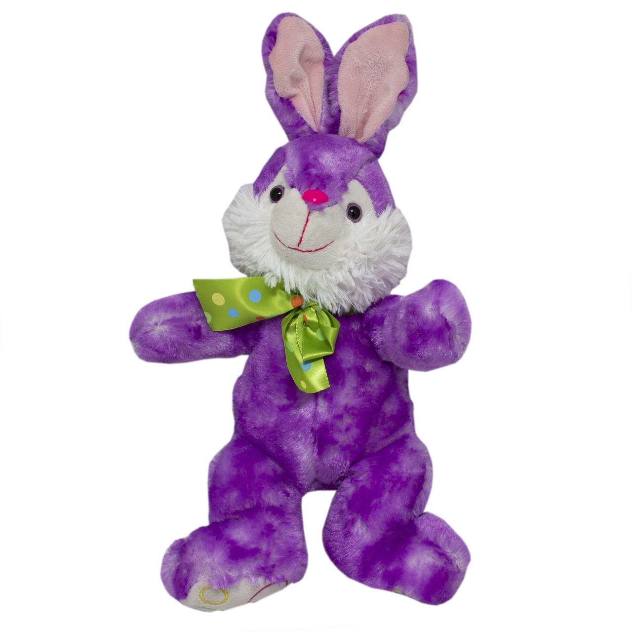 Мягкая игрушка - кролик сиреневый, 23 см, сиреневый, полиэстер (M1222923-2)
