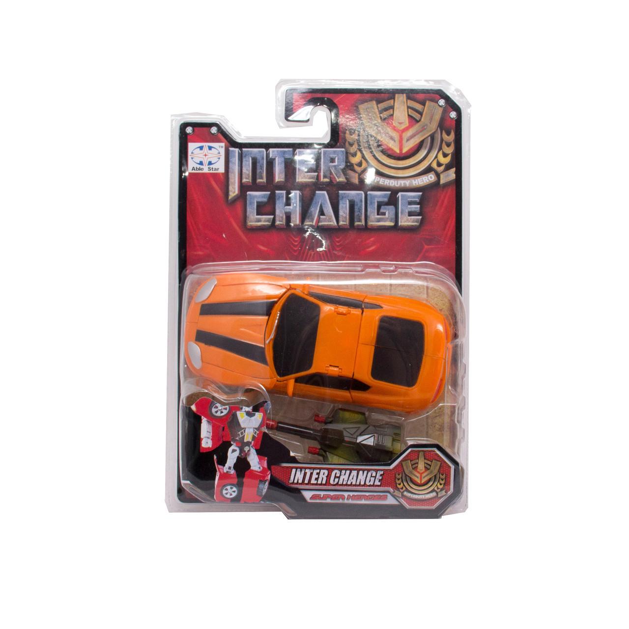 Транс-робот, помаранчевий спорткар (9391-6)
