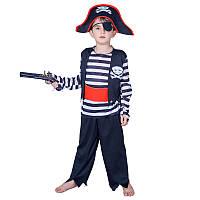 Костюм детский карнавальный пират Джек Воробей, рост 110-120 см, черный (EE224В)