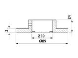 Кріплення труби d=50 нижнє GIFF хром, фото 2