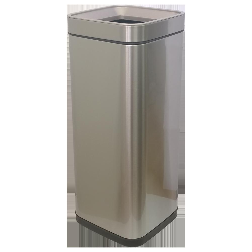 Ведро для мусора JAH 30 л серебряный металлик без крышки и внутреннего ведра