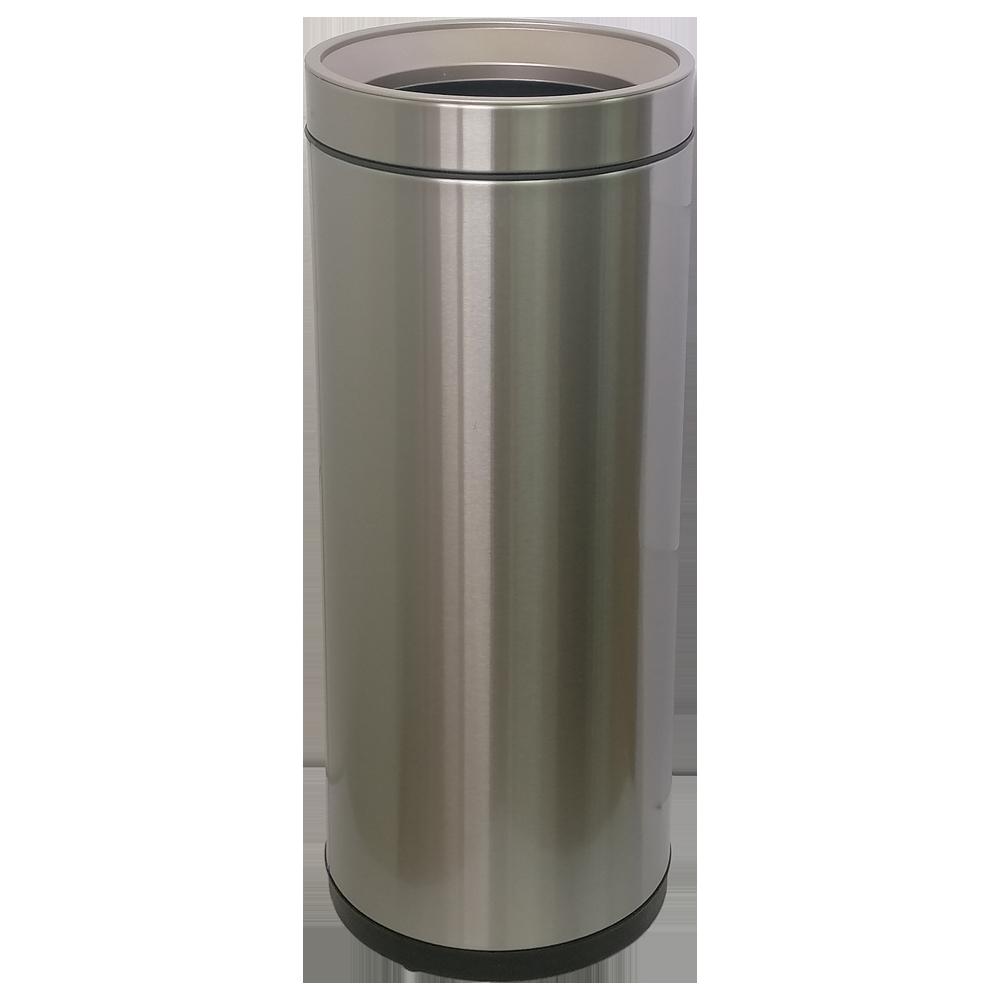 Відро для сміття JAH 25 л круглий срібний металік без кришки і внутрішнього відра
