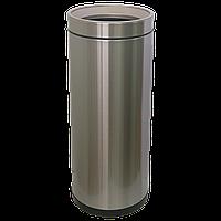 Відро для сміття JAH 25 л круглий срібний металік без кришки і внутрішнього відра, фото 1