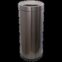 Ведро для мусора JAH 25 л круглое тёмно-серебряный металлик без крышки и внутреннего ведра, фото 1