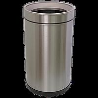 Ведро для мусора JAH 15 л круглое серебряный металлик без крышки с внутренним ведром, фото 1