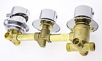 Змішувач для душової кабіни, на три вузла і 4 положення під різьбу Г6506
