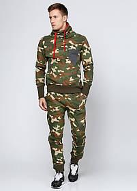 Мужские спортивные прямые брюки Triko утепленные M Хаки 7172213-M, КОД: 1452761
