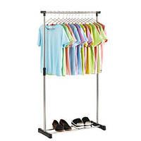 Оригинал! Универсальная прочная напольная передвижная стойка вешалка для одежды, рейл Clothes Hanger