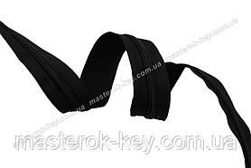 Молния спиральная в рулоне №7 Обувная  Италия С580 черная 200м.