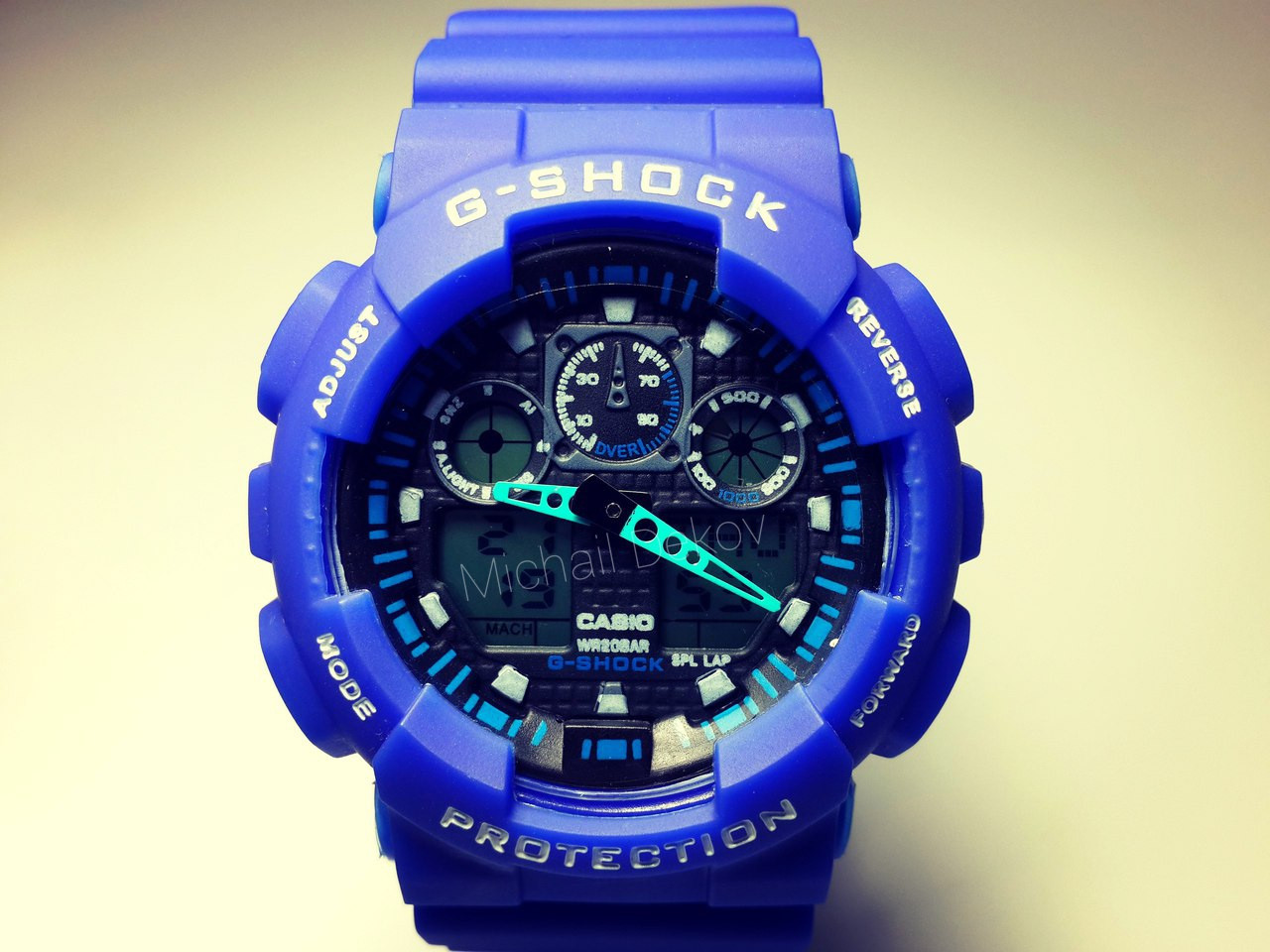 ЧАСЫ CASIO G-SHOCK GA-100  blue -реплика