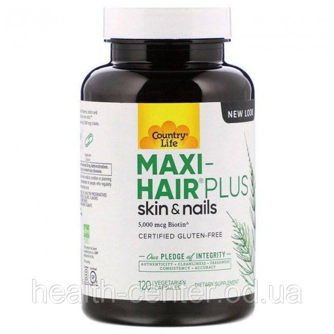 Maxi-Hair Plus 120 капс  Витамины для волос  Country Life USA