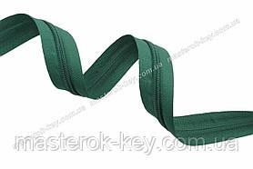Молния спиральная в бобине №7 Обувная Италия С295 зеленая 200м.