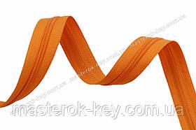 Молния спиральная в бобине №7 Обувная Италия С006 морковная 200м.