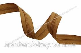 Молния спиральная в бобине №7 Обувная Италия С007 светло-коричневая 200м.