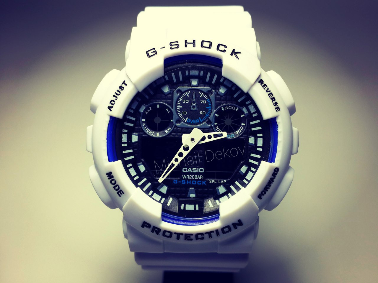 ЧАСЫ CASIO G-SHOCK GA-100   White Black Dial -реплика