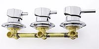 Змішувач для душової кабіни, на три вузла для паралельного включення Г6523