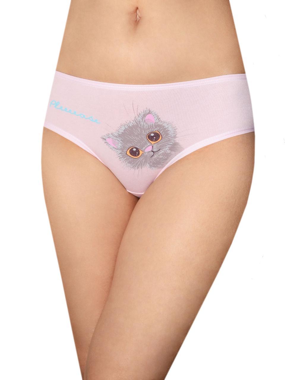 """Трусики для девочки, спереди принт """"Кот"""" 80-86 (1-1,5 года), цвет Розовый"""