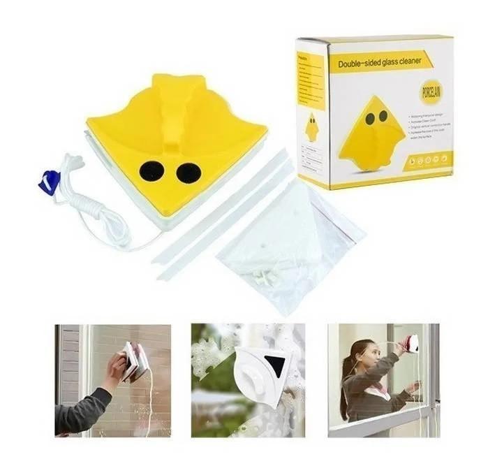 Магнитная щетка для мытья окон с двух сторон Double Sided Glass Cleaner