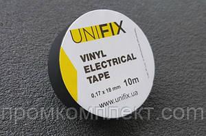Изолента 0,17ммx18ммx25м черная (универсальная) (кратно упаковке — 10 шт.) UNIFIX