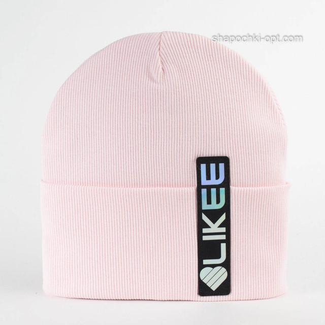 Розовая детская шапка