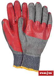 Перчатки рабочие  покрытые латексом REIS Польша BRICKSTONE SC