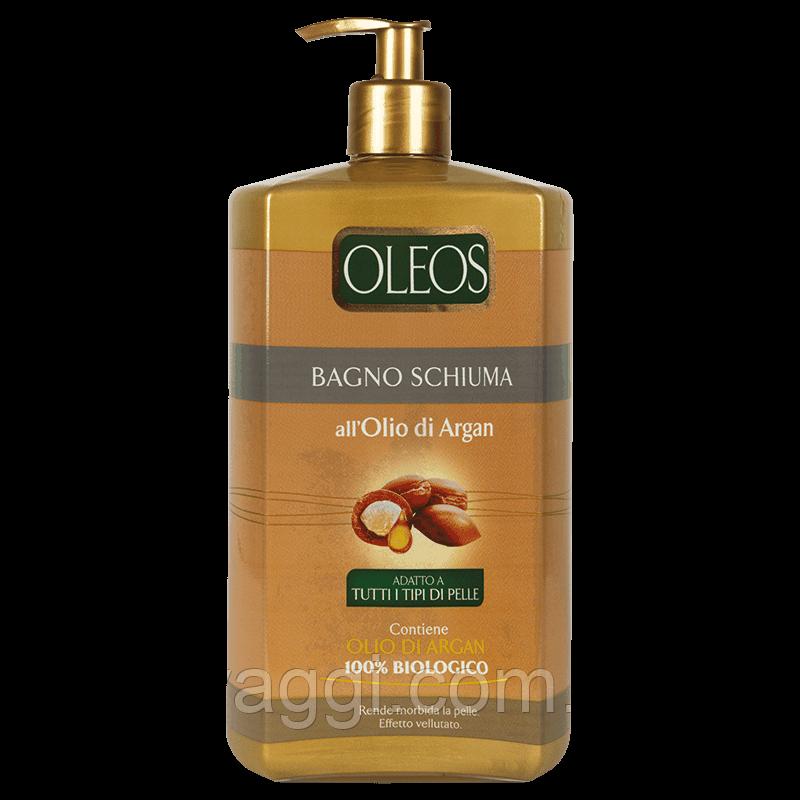 Гель для душа и пена для ванной с маслом Аргана Oleos Bagno Schiuma Argan 1000 ml