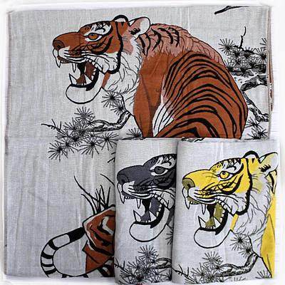 Качественное хлопковое полотенце банное с тигром