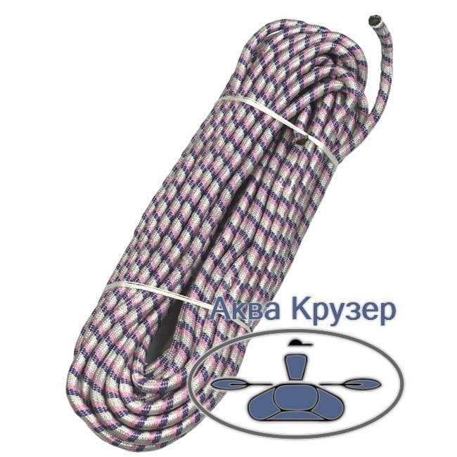 Фал плетеный 25 м d=12 мм для якоря Якорная веревка трос канат для лодки