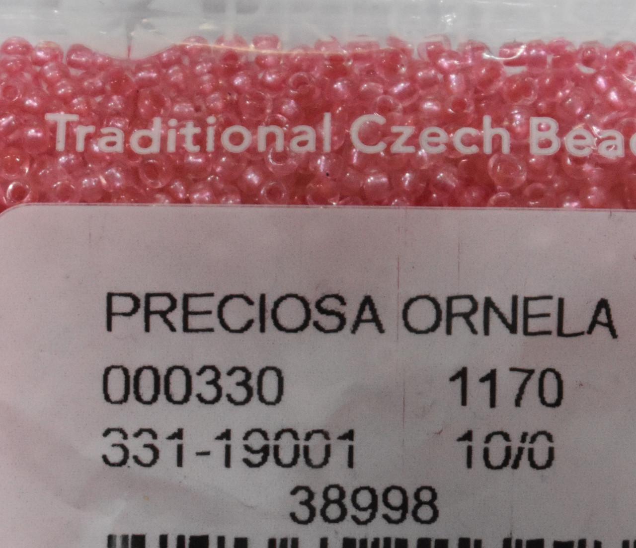 Бисер Preciosa 10/0 цвет 38998 розовый 10г