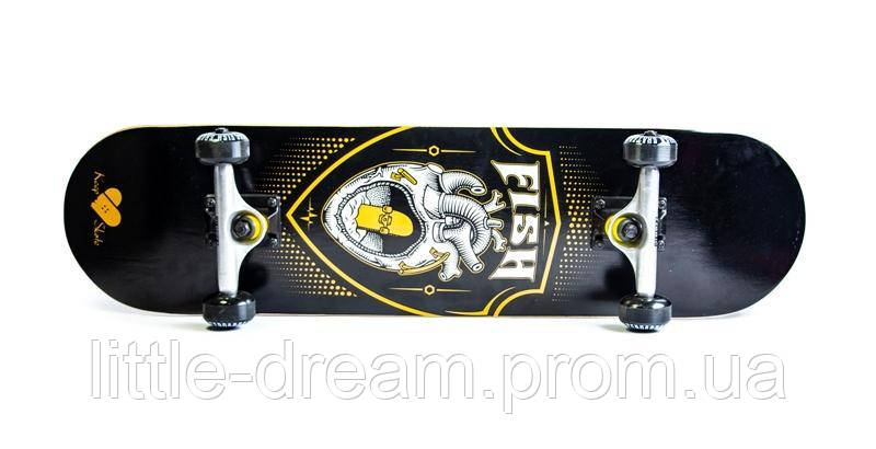 СкейтБорд ( скейт ) деревянный от Fish Skateboard Сердце