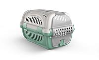Переноска для домашних животных собак Rhino GeorPlast серый зеленый