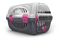 Переноска для домашних животных собак Rhino GeorPlast серый черный розовый